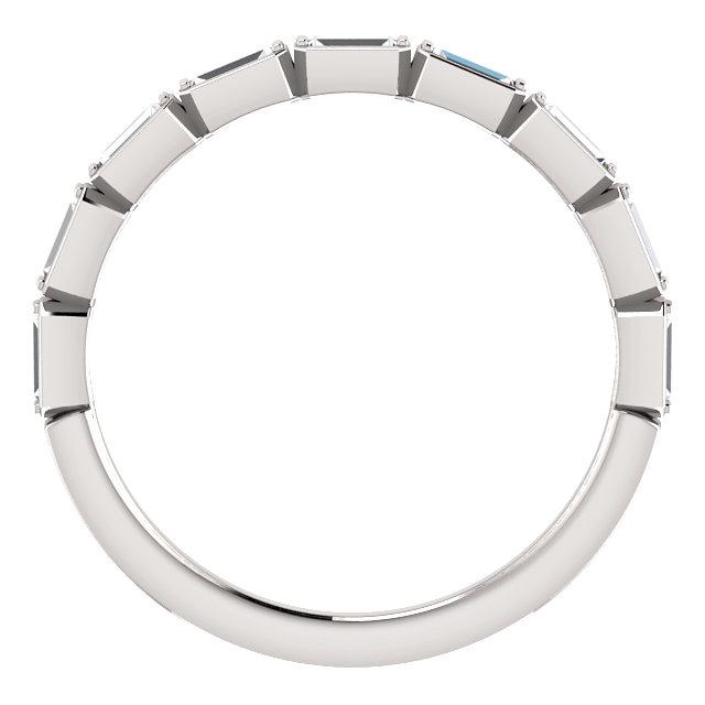 Style 123020 Diamontrigue Jewelry: 14K Yellow/White Gold Diamond Wedding Band