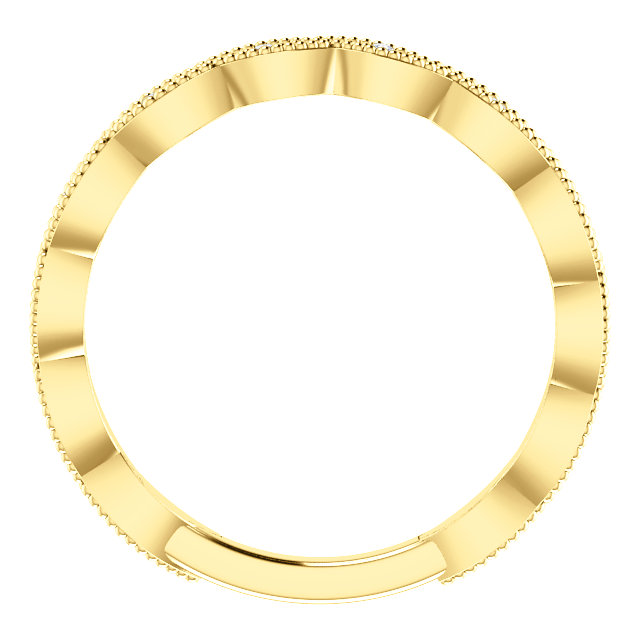 Style 123086 Diamontrigue Jewelry: 14K Yellow/White Gold Diamond Wedding Band